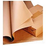 Крафт папір ЮТЭК в рулонах 25м. Щільність 80 г/м2., фото 4