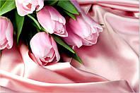 Фотообои тюльпаны на ткани