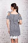 Женское морское платье в полоску модель 2018 - Код пл-287, фото 6