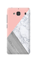 Чехол для Xiaomi Redmi 2 Тройной мрамор (розовый) опт/розница Пластик глянец
