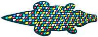 Массажный коврик с цветными камнями «Крокодил» 146х50 см