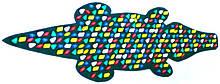 Масажний килимок з кольоровими каменями «Крокодил» 146х50 см
