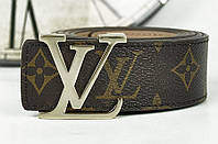 Ремень кожаный Louis Vuitton черный