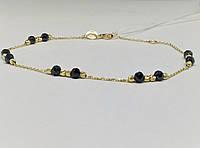 Золотой браслет (Якорное) с ониксом. Артикул 323258ЖО, фото 1