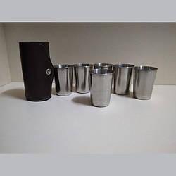 Набір стаканів із нержавіючої сталі 200мл в чохлі