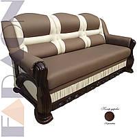 """Розкладний диван """"Прем'єр"""" в дереві (гостьовий варіант, механізм дельфін, пружинний блок Боннель)"""