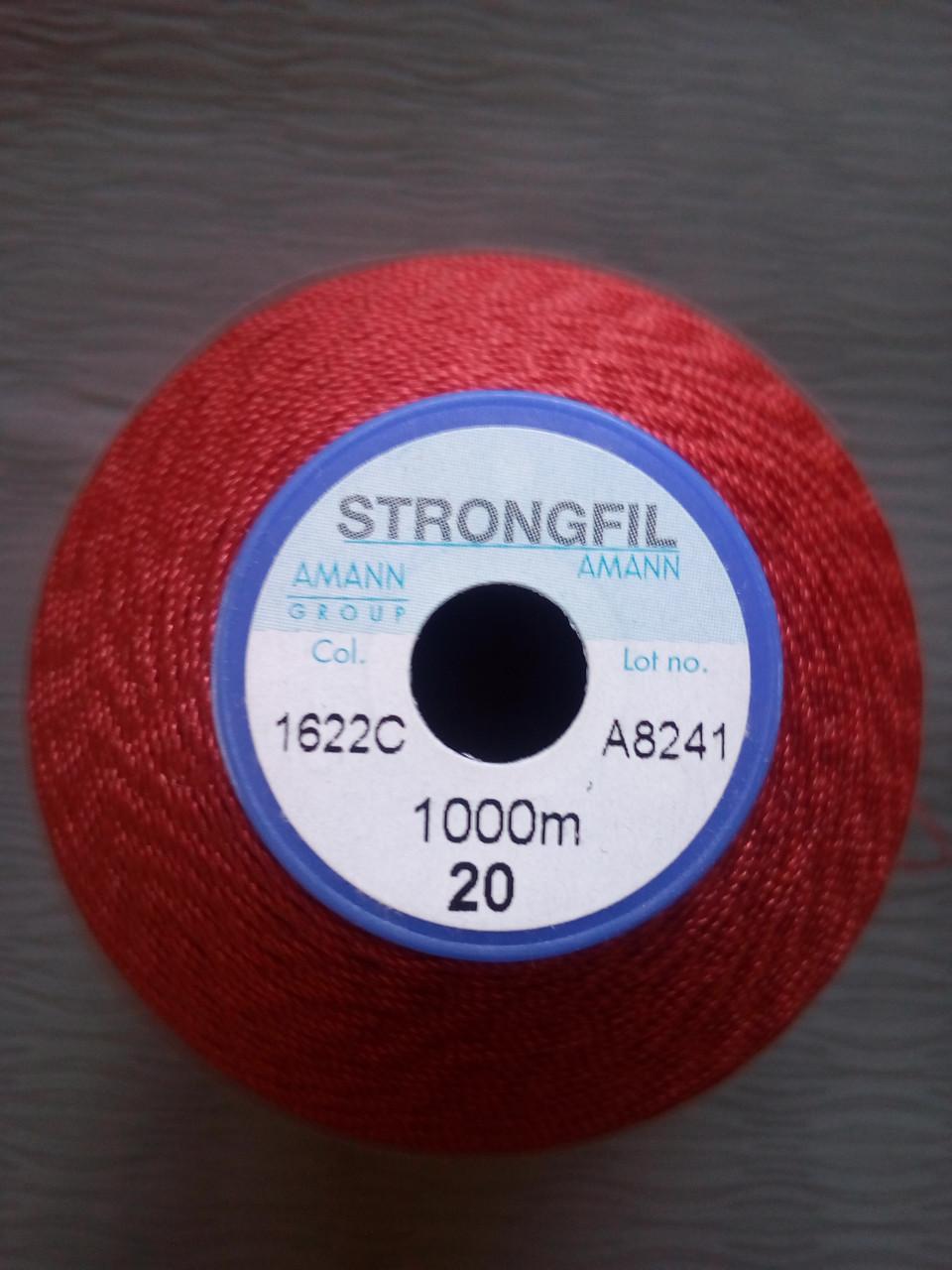 Amann Strongfil  №20.  цвет  КРАСНЫЙ.  1000 м
