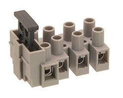 TLF-100-4 Клемник 4 групи контактів на блок з предохр. вставкою
