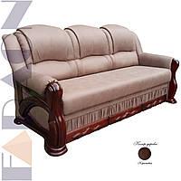 """Розкладний диван """"Фараон"""" в дереві (гостьовий варіант, механізм дельфін, пружинний блок Боннель)"""