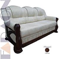 """Розкладний диван """"Клеопатра"""" в дереві (гостьовий варіант, механізм дельфін, пружинний блок Боннель)"""