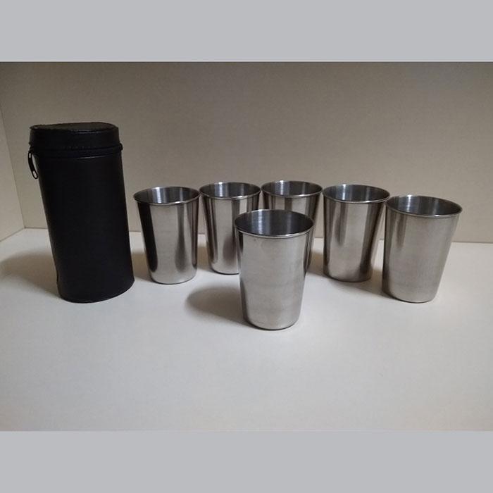Набір стаканів із нержавіючої сталі 150мл в чохлі