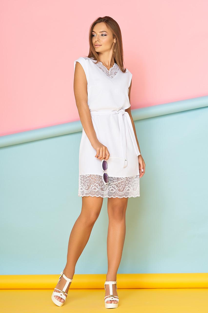 48f73bd814b Женское полуоблегающее летнее платье в бельевом стиле