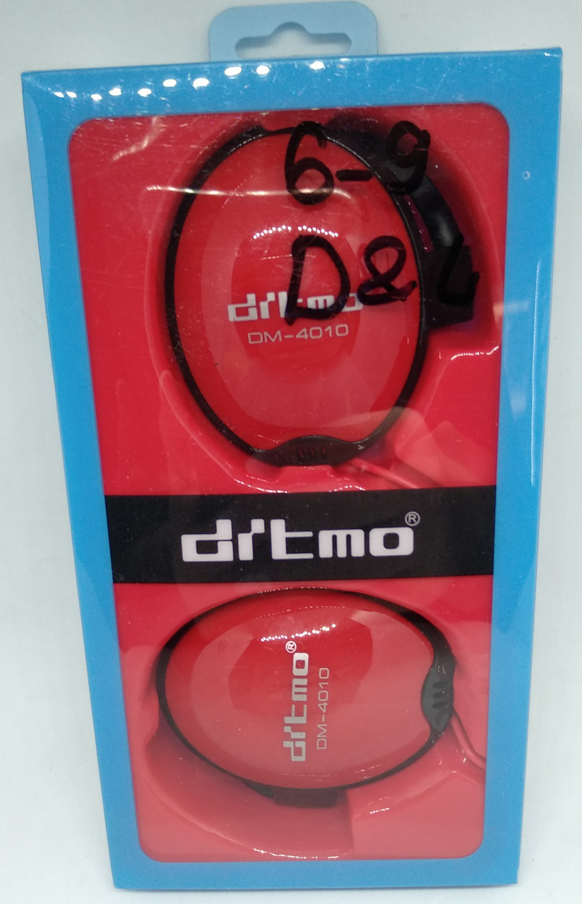 Навушники з вушним гачком DITMO DM-4010 червоний