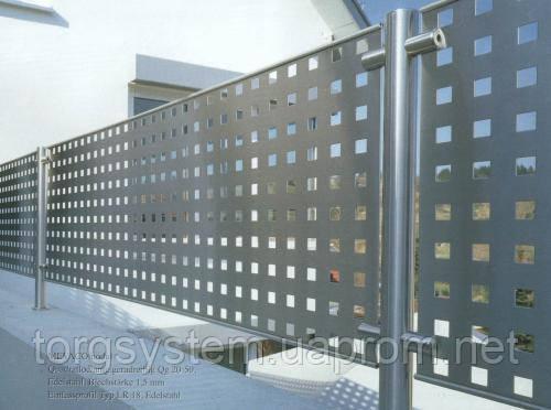 Перфорований  металевий лист в будівництві