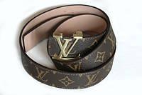 Ремень  Louis Vuitton кожаный коричневый