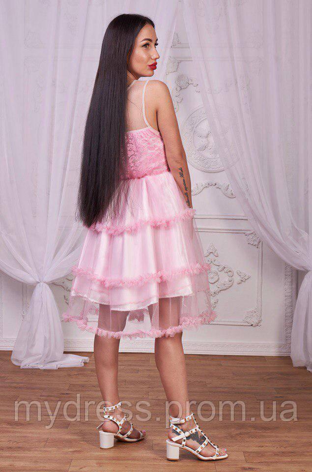 Платье нарядное с цветами 712