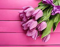 Фотообои тюльпаны на досках