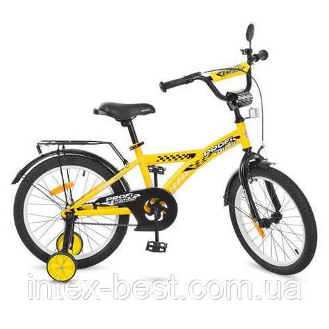 """Двухколесный велосипед Profi Racer 18"""" Желтый (T1832), фото 2"""