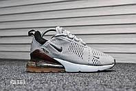 Nike Air Max 270 Silver / Dark Bordo ТОП Качество! (Реплика)