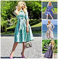 Нарядное платье в цветочек 16220, фото 1