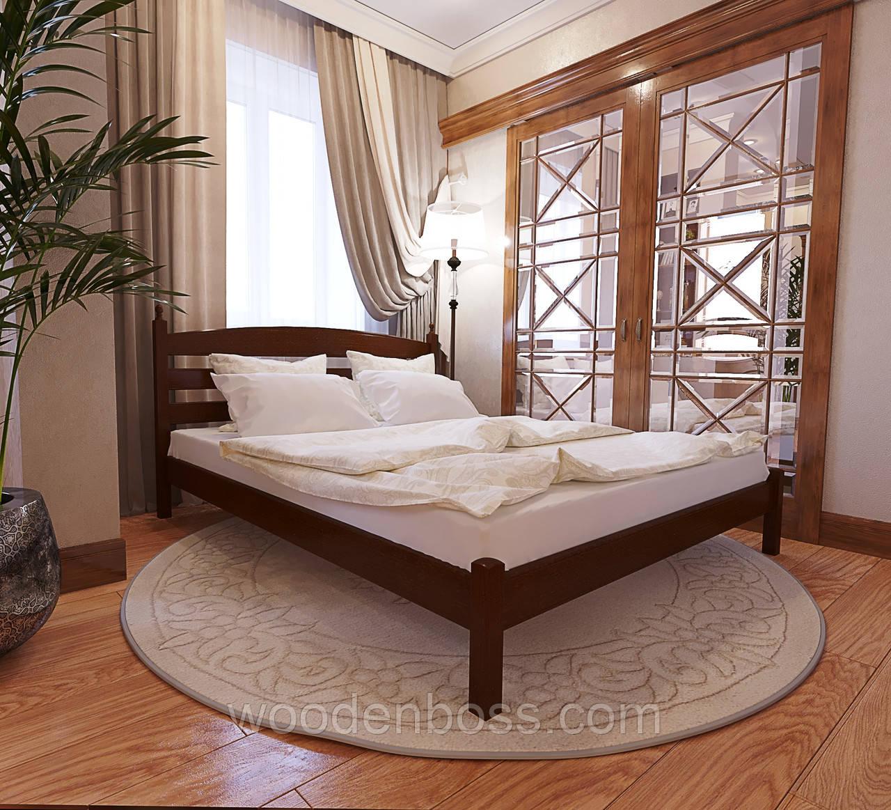 """Кровать полуторная от """"Wooden Boss"""" Классик (спальное место 140х190/200)"""