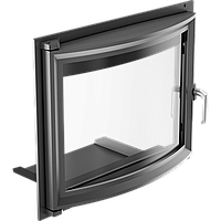 Дверца для камина Kratki Antek/Maja 491х600 мм с панорамным стеклом