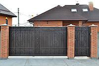 Ворота въездные с ковкой, фото 1