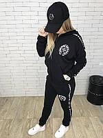 Спортивный костюм женский Chrome Hearts D3195 черный реплика