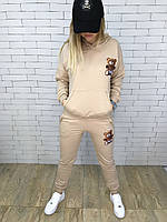 Спортивный костюм женский Moschino D3194 бежевый