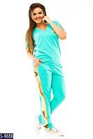 """Спорт  костюм """"Лампас паетка"""" S-9688;  размеры: 48-56"""