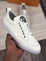 Кроссовки мужские Louis Vuitton D3206 белые, фото 1