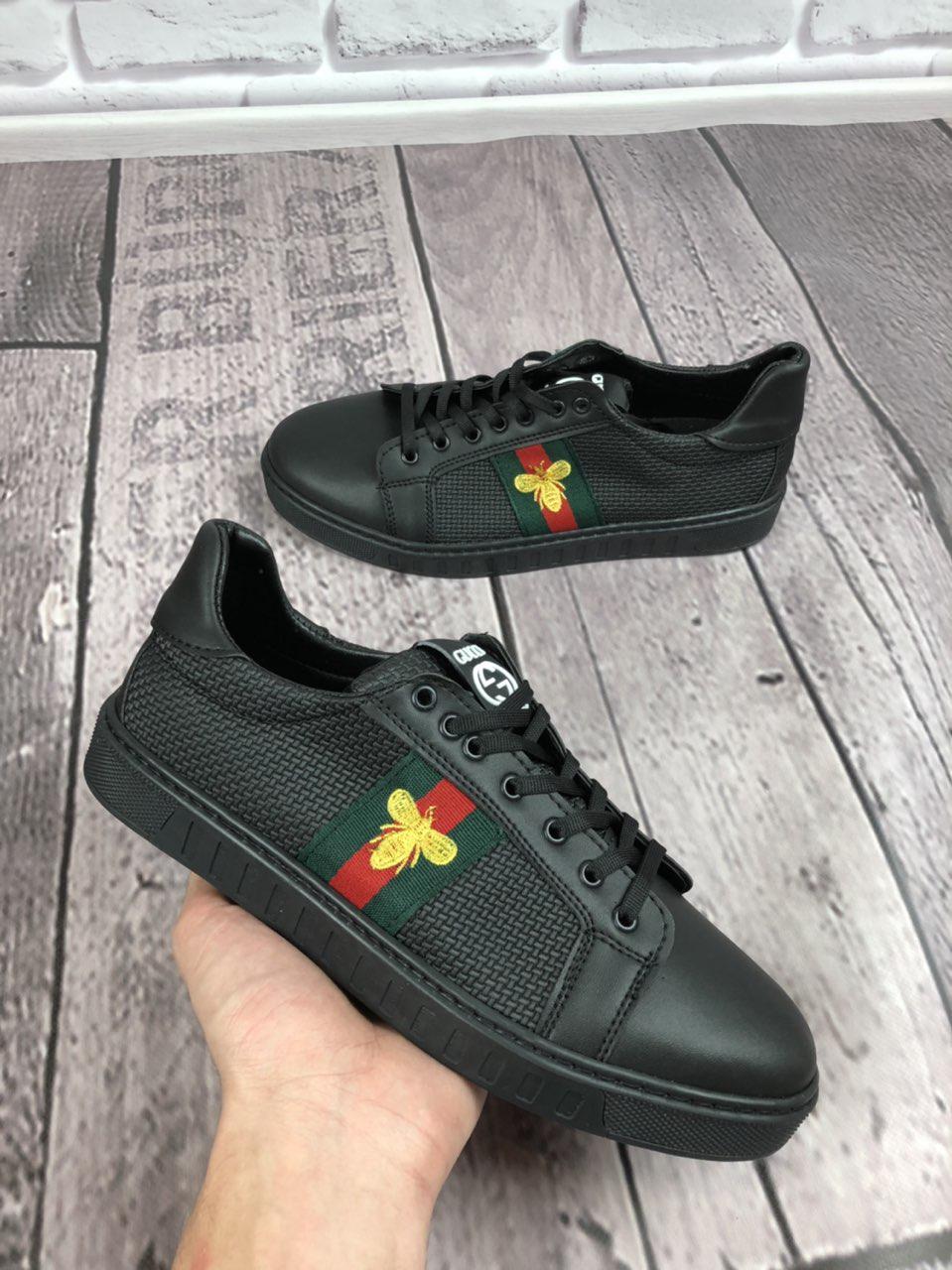 Кроссовки мужские Gucci D3216 черные
