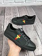 Кроссовки мужские Gucci D3216 черные, фото 1