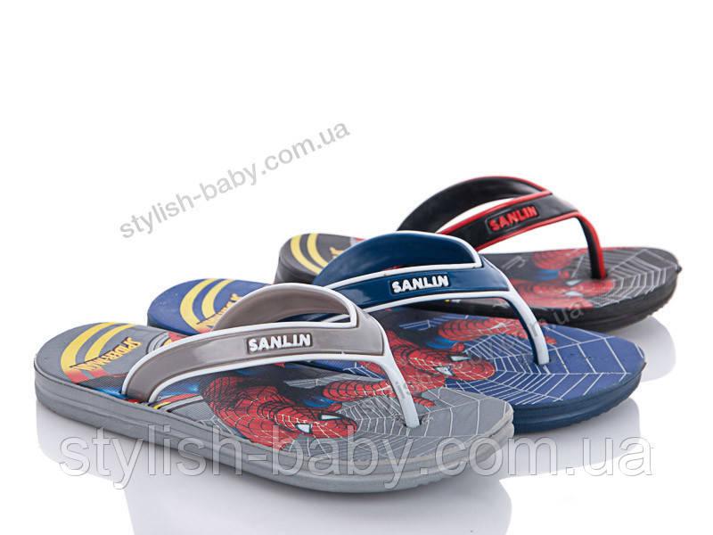 Детская коллекция летней обуви 2018. Детские шлепанцы бренда Sanlin для мальчиков (рр. с 24 по 29)