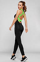 Спортивный комбинезон с открытой спиной