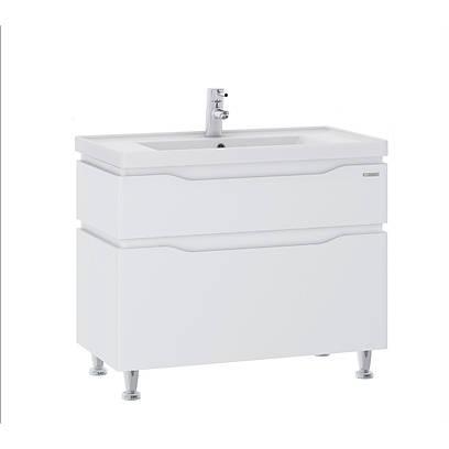 Тумба для ванной Алесса с умывальником белый, 60