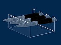 Подставка для ножей на 3 изделия, акрил 3 мм, фото 1