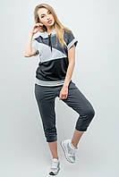 Женский летний спортивный костюм Илайя / размер 44-52 / цвет серый