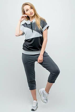 Женский летний спортивный костюм Илайя   размер 44-52   цвет серый, фото 2 0210d5533e3