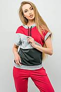 Женский летний спортивный костюм Илайя / размер 44,46 / цвет бордовый, фото 3