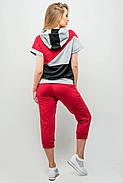 Женский летний спортивный костюм Илайя / размер 44,46 / цвет бордовый, фото 4