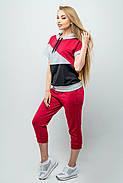 Женский летний спортивный костюм Илайя / размер 44,46 / цвет бордовый, фото 5
