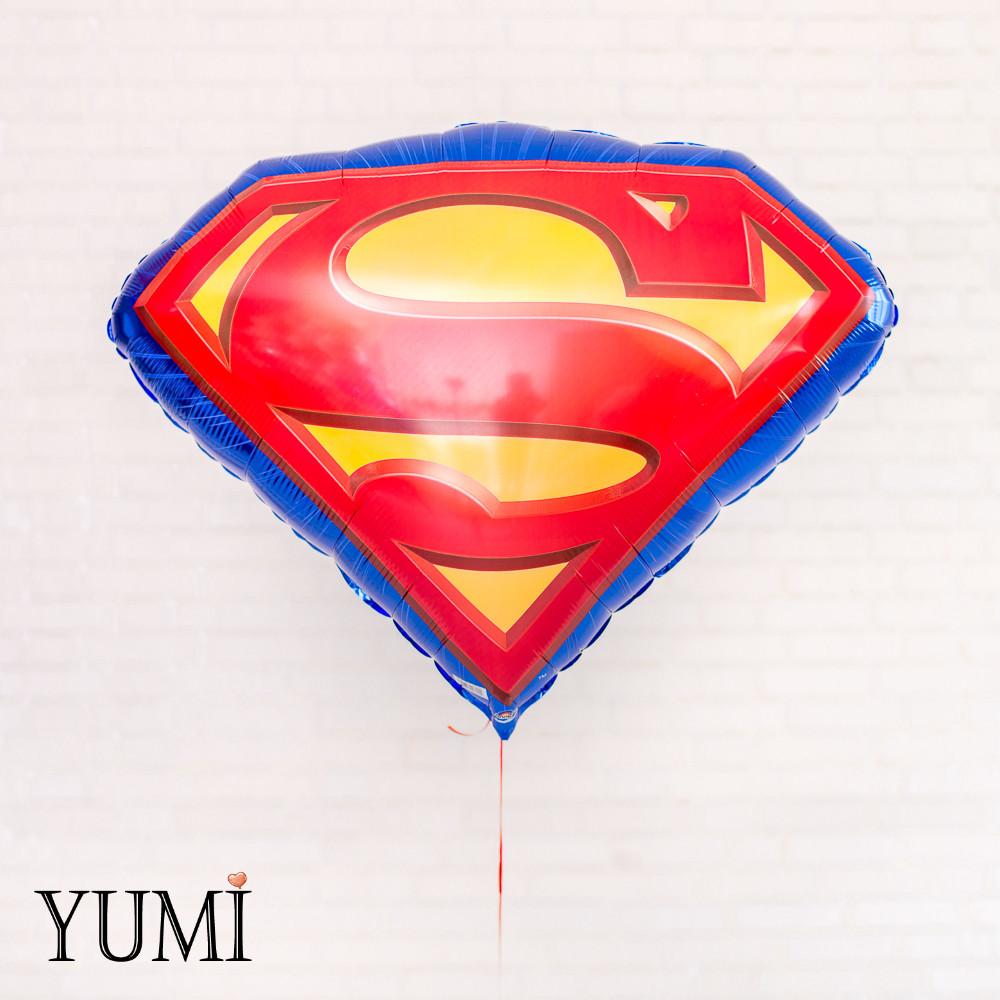 Фольгированный шар с гелием Щит Супермена