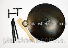 Сковорода из бороны съемные ножки и ручки + крышка 400 мм , фото 2