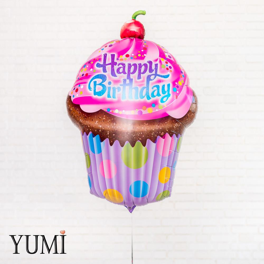 Фольгированный шар на День Рождения Кекс