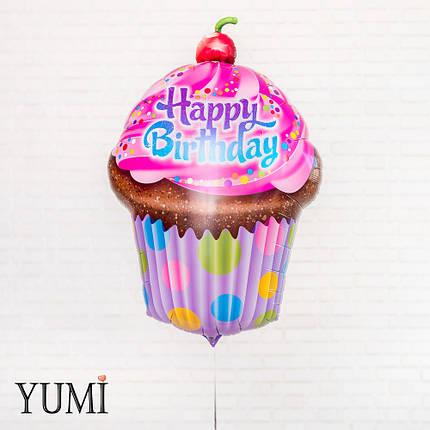 Фольгированный шар на День Рождения Кекс, фото 2