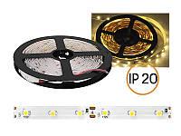 Светодиодная лента 3528 (2835) 60 LED/m Тёплый белый негерметичная