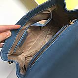 Сумка, клатч М@йкл Корс Ava шкіряна репліка, колір блакитний, фото 4