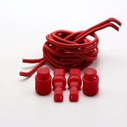Чудо-шнурки с затяжкой 100см, цвет красный