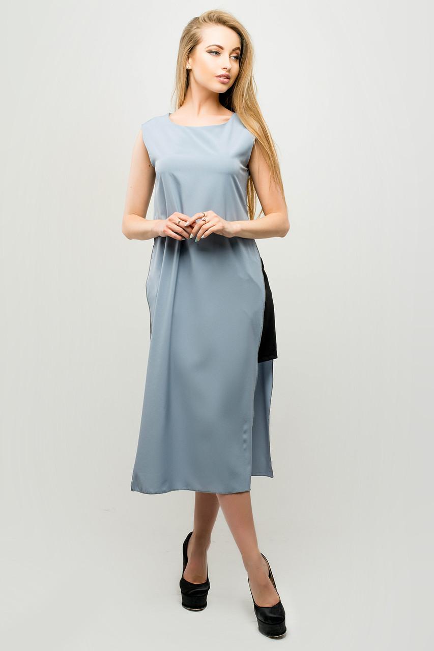 Женский молодежный летний костюм с шортами Клора / размер 44-52 / цвет серый